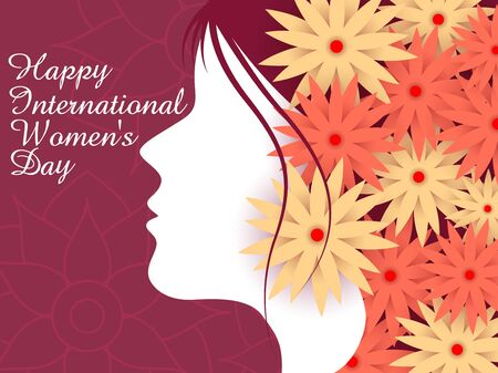 easy to edit vector illustration of beautiful woman for Happy International Women's Day greetings Background