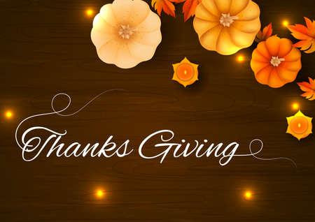 vector illustration of Thanksgiving Harvesting festival background