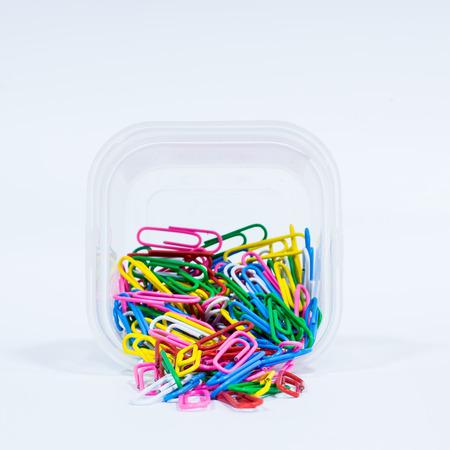 muti: A lot of muti color paper clip
