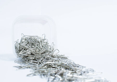 fasteners: A lot of silver paper clip