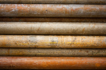 metal pipe: old pipe in background Stock Photo