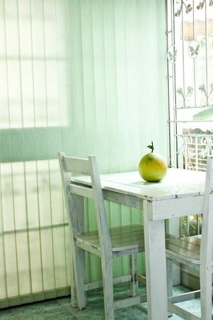 grapefruit on table  photo