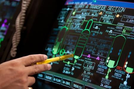 tablero de control: panel de control Foto de archivo