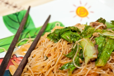 stir-fried noodles. photo