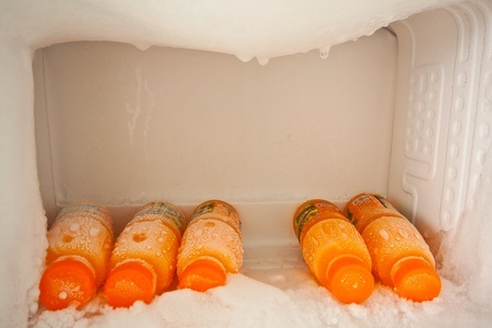 frozen fruit: beverages in refrigerated