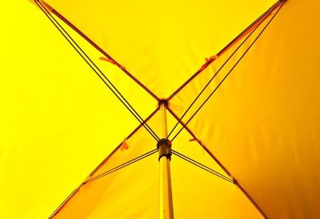 yellow umbrella photo