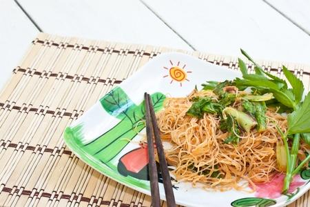 Stir-fried noodles. photo