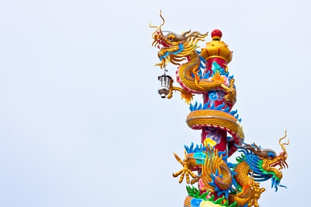 dragon on pole photo