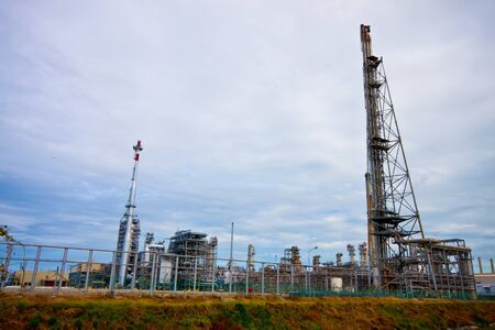 petrochemical plant area photo
