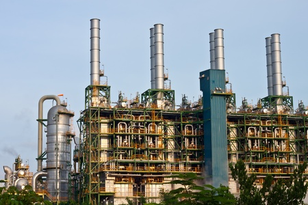 heavy fuel: petrochemical plant Stock Photo