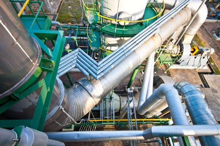 pipe line in petrochemical plant Stock Photo - 11906263