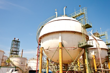 spheres in petrochemical plant