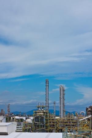 petrochemical plant area Stock Photo - 11951615