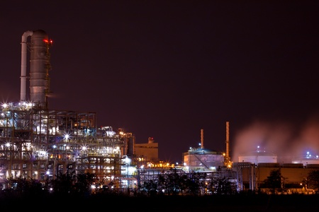 petrochemical plant Stock Photo - 12189435