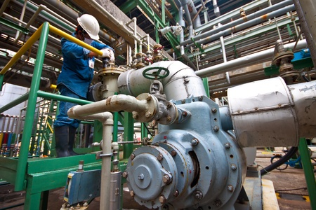 chemical engineering: man power working in factory