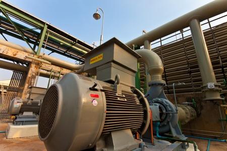 bomba de agua: del motor en la fábrica de equipos para la bomba de agua