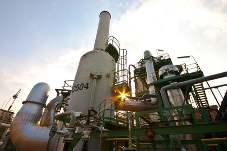 petrochemical plant detail