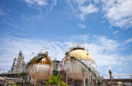 petrochemical plant area