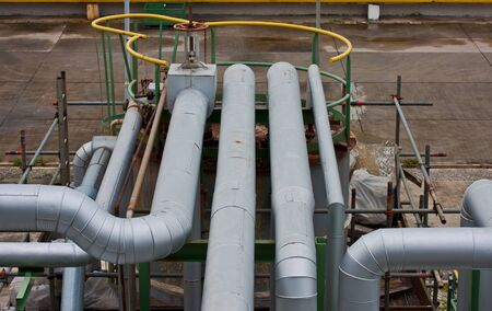 pipe line in petrochemical plant photo