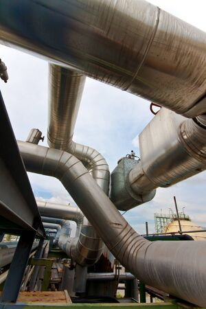 pipe line in petrochemical plant Stock Photo - 12940364