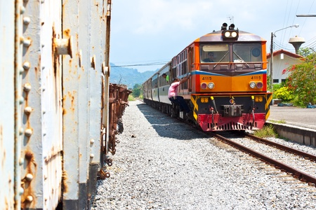 thai old train at station Stock Photo - 13047378