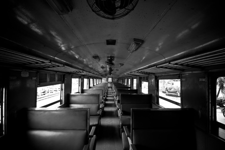 inside old train
