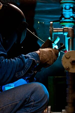 welder at factory work