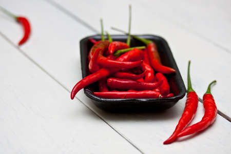 Heap Of Ripe Big Red Peppers Stock Photo - 13599467