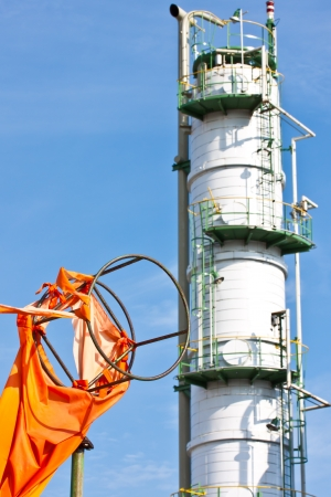 windsock in petrochemical plant photo