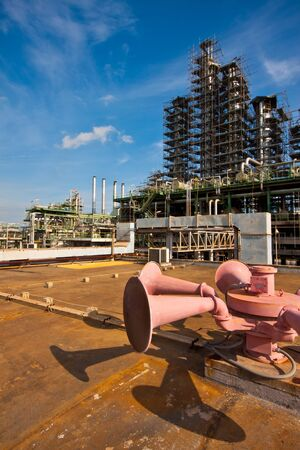 alarm speakers in the petrochemical plant photo