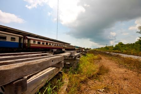 thai old train at station