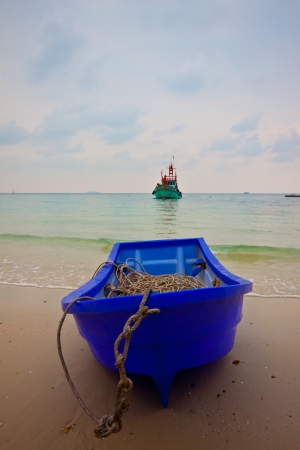 boats on the beach photo
