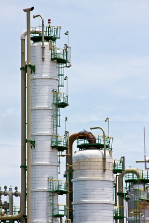gas refinery, industrial plant photo