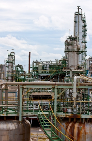 gas refinery, industrial plant