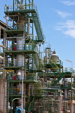 distillation in petrochemical plant photo