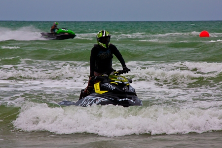 jet ski competition on the beach in thailand