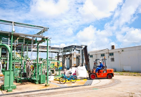 forklift  working in fatory photo