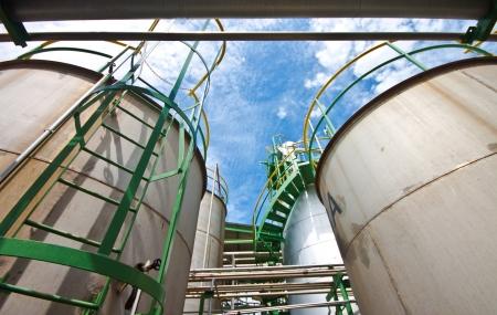 liquid tanks in tetrochemical plant