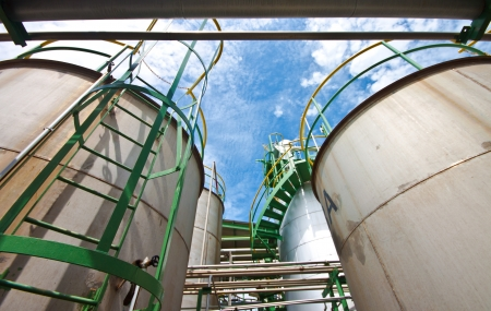 liquid tanks in tetrochemical plant photo