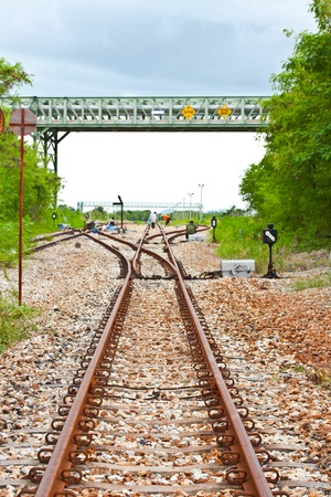 railway Workers repairing railway on hot summer day Stock Photo - 15750014