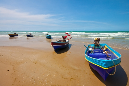 fishingboat: fishing boats on the beach