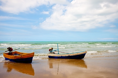 fishingboat: fishing boats under blue sky Stock Photo