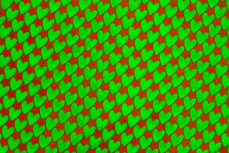 heart patterned fabric  photo