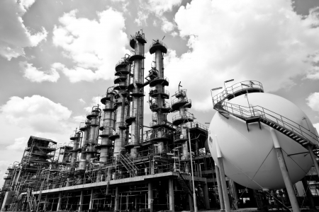 column tower in petrochemical plant Stock Photo - 16257678