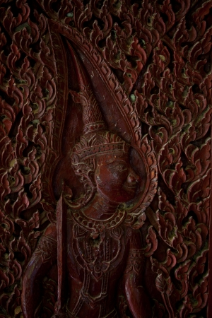 generality: thai angle wood carving,generality in thailand