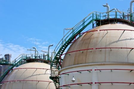 liguid gas tanks is inflammable gas Stock Photo - 17466781