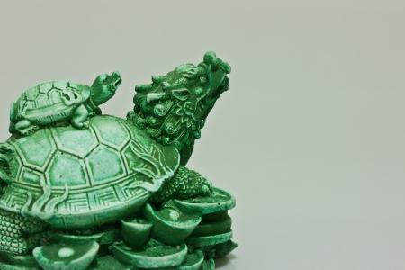 Chinese dragon turtle prosperity figurine Stock Photo - 17466752