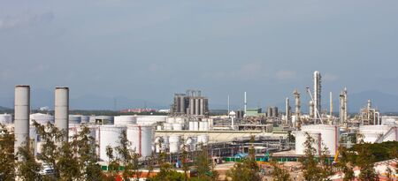 power plant in petrochemical complex photo