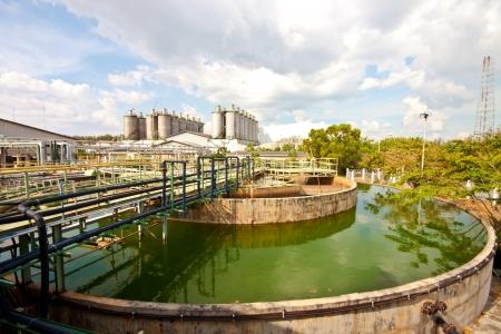 sedimentation: water treatment in plant  Stock Photo