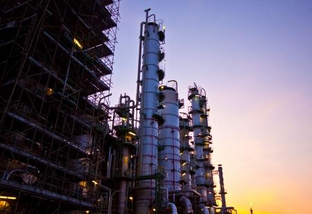 petrochemical plant in sunset Standard-Bild